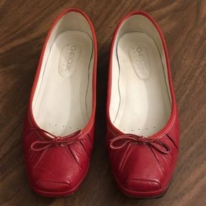 Geox Ballet Flats 7.5 M Red